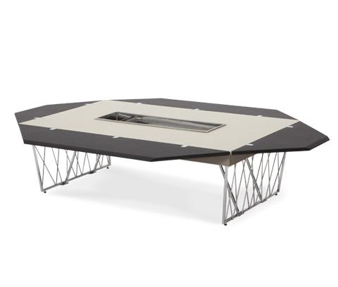 Michael Amini - Rectangular Folding Cocktail Table - 06201-92