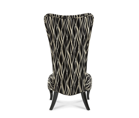 Michael Amini - Armless Accent Chair - 06831-BLACK-88