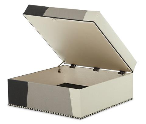 Michael Amini - Square Storage Ottoman - 06878-MULTI-00