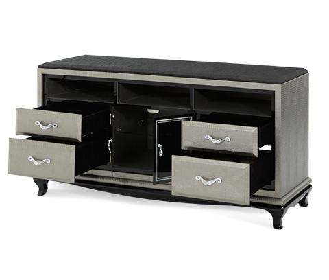 Michael Amini - Titanium Media Cabinet - 19081-16