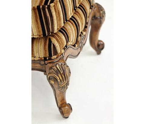Michael Amini - Bergere Chair Ottoman - 54875-BRGLD-34