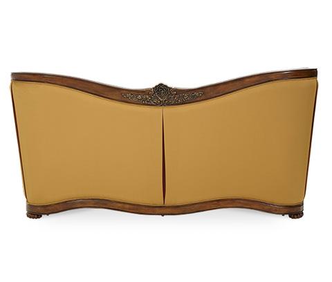Michael Amini - Wood Trim Channel Back Sofa - 67815-RDGLD-52