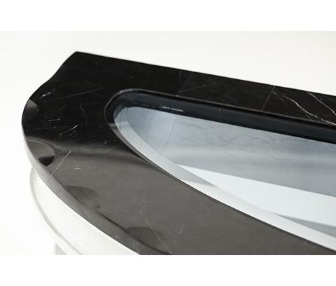 Michael Amini - Black Onyx Console Table - NU03223-88