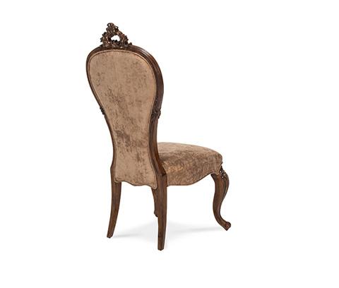 Michael Amini - Platine de Royale Side Chair in Light Espresso - 09003-229
