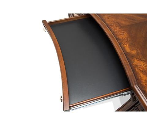 Michael Amini - Platine de Royale Desk in Light Espresso - 09207-229