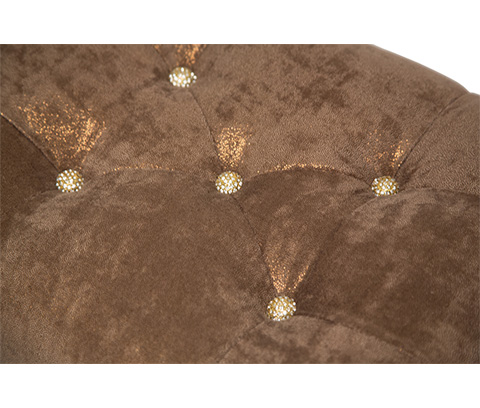 Michael Amini - Platine de Royale Vanity Bench in Light Espresso - 09804-229