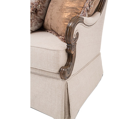 Michael Amini - Platine de Royale Wood Sofa - 09815-STONE-229