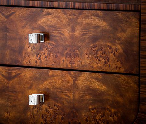 Michael Amini - Cloche Nightstand in Bourbon - 10040-32