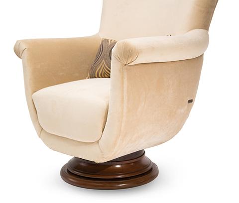 Michael Amini - Cloche Swivel Chair - 10839-PLTNM-32