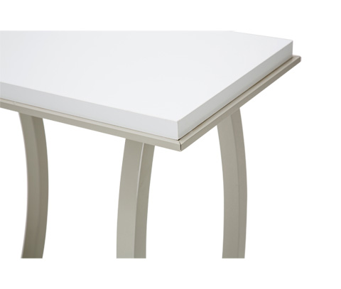 Michael Amini - Sky Tower Console Table in Cloud White - 9025623-108