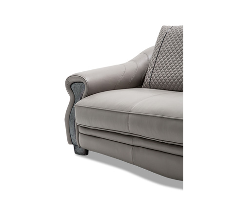 Michael Amini - Gabriella Leather Love Seat in Light Grey - MB-GBRLA25-LGR-00