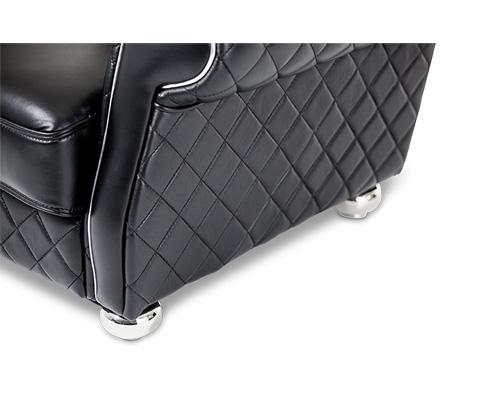 Michael Amini - Lugano Leather Gents Chair - MB-LUGAN35-SBL-13