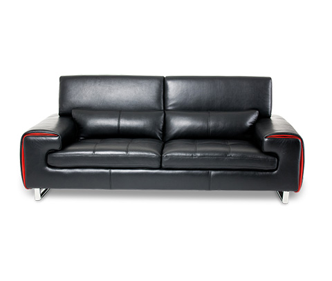 Michael Amini - Magrena Leather Sofa - MB-MAGRN15-BLK-13