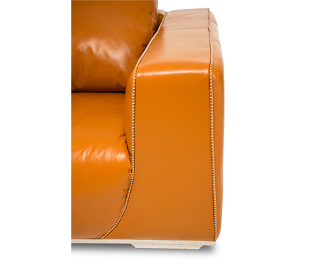 Michael Amini - Sophia Leather Standard Sofa - MB-SOPHI15-TGR-13
