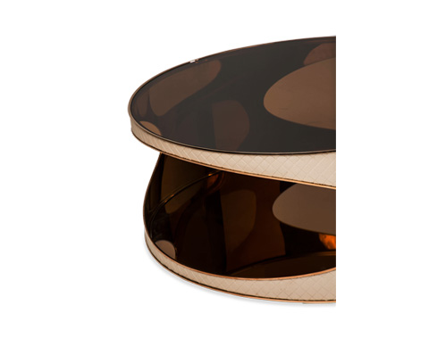 Michael Amini - Solar Eclipse Round Cocktail Table - FS-SOEPS301