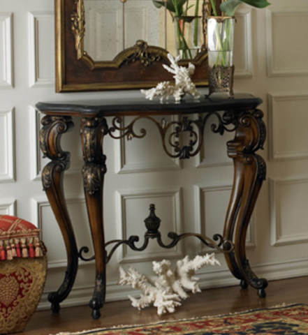 Ambella Home Collection - Golden Debusse Console Table - 07077-850-001