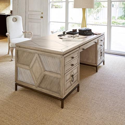 Ambella Home Collection - Diamond Executive Desk - 04602-320-074