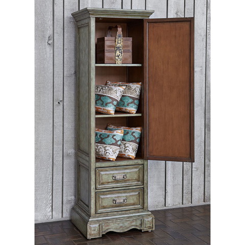 Ambella Home Collection - Medallion Single Door Cabinet in Blue - 06690-820-001