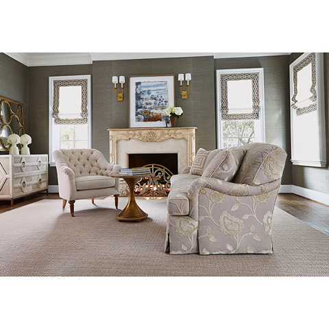 Ambella Home Collection - London Sofa with Skirt - 1110-02