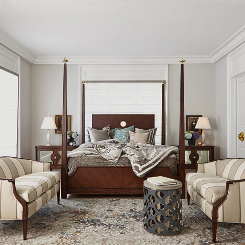Ambella Home Collection - Crown Four Poster Bed in King - 12569-200-084