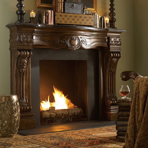 Ambella Home Collection - Woodard Fireplace Surround Décor - 20019-420-070