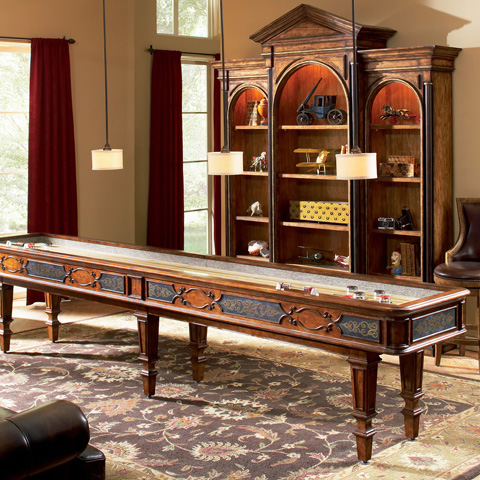 Ambella Home Collection - Elegant Scroll Shuffleboard Table - 29000-935-014