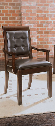American Drew - Tribecca Upholstered Leather Arm Chair - 912-623