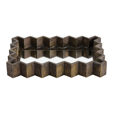 Arteriors Imports Trading Co. - Ziggurat Rectangular Tray - DK2064