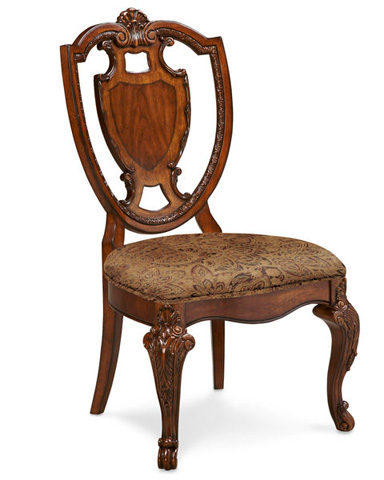 Image of Shield Back Dining Side Chair with a Fabric Seat