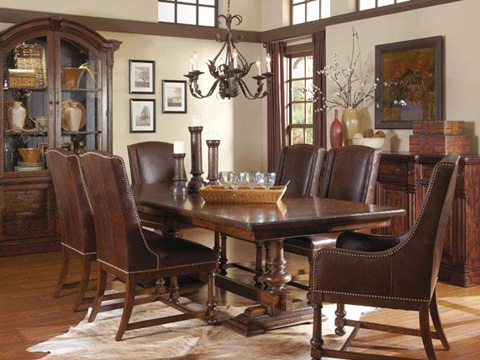 A.R.T. Furniture - Whiskey Oak Leather Arm Chair - 205200-2304