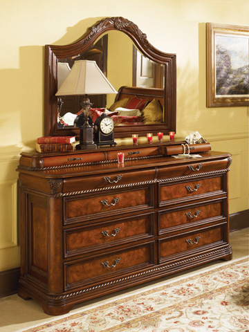 Image of Arched Landscape Dresser Mirror