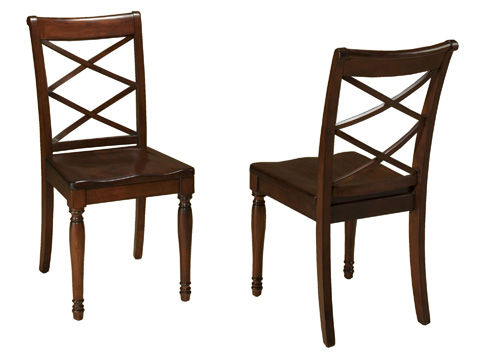 Image of Double X Wooden Side Chair