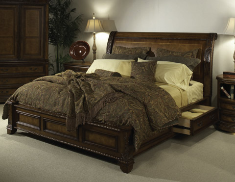 Aspenhome - King Sleigh Storage Bed - I74-404/405/497EK