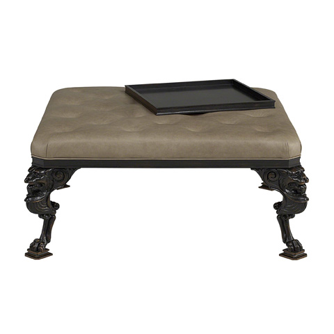 Baker Furniture - Russian Empire Upholstered Cocktail Table - 5352