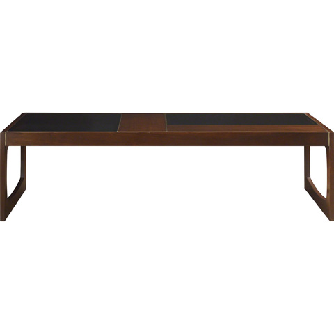 Baker Furniture - Gerrit Cocktail Table with Glass Top - 2055-1