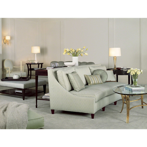Baker Furniture - Glass and Metal Coffee Table - 3554