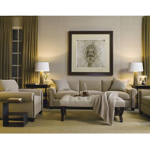 Baker Furniture - Directoire Tufted Ottoman - 6336