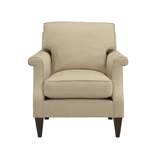 Baker Furniture - Shaped Arm Lounge Chair - 6925C