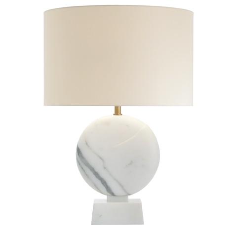 Baker Furniture - Noir Sculpte Round Table Lamp - PG106B