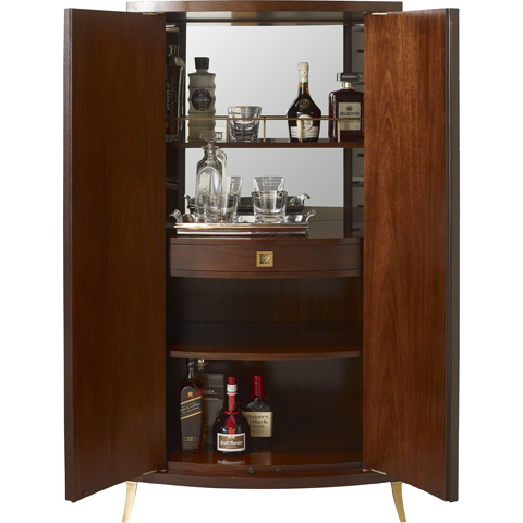 Baker Furniture - Bevel Bar Cabinet - 8670-1