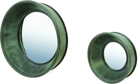 Image of Set of Two Porthole Wall Mirrors