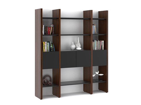 BDI - Three Section Bookcase - 5403-EA