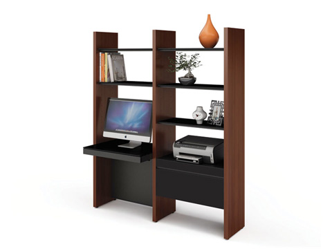 BDI - Desk with Bookshelf - 5412-DC