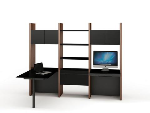 BDI - Desk with Bookshelf - 5413-PD