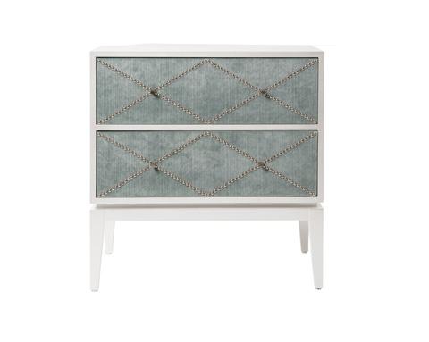 Belle Meade Signature - Elle Mid Century Modern Upholstered Nightstand - 4098N