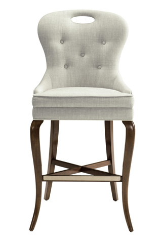 Belle Meade Signature - Aiden Button Tufted Cabriole Leg Barstool - 4076.30