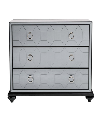 Belle Meade Signature - Lyric Geometric Smokey Mirrored Occasional Chest - 5013