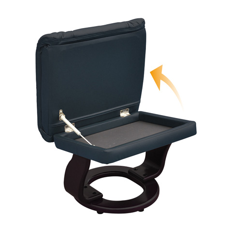 Benchmaster Furniture - Sienna Kona Brown Swivel Glider - 7493-074-19