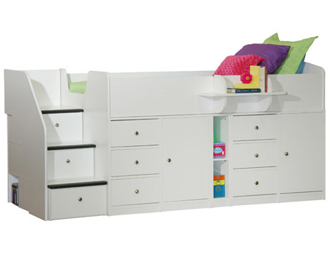Berg Furniture - Twin Captain's Bed with Storage - 22-731-80