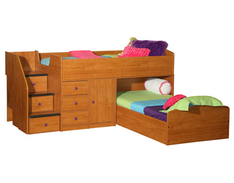 Berg Furniture - Captain's Bed for Two - 22-741-80